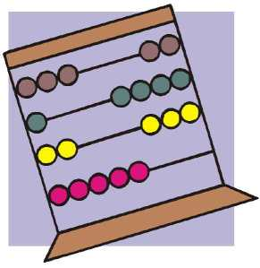 Illustration of an abacus